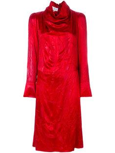 платье с высоким воротом и мятым эффектом  Maison Margiela