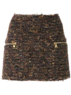 твидовая мини-юбка  Balmain