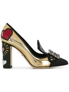 туфли с пряжкой из кристаллов Dolce & Gabbana