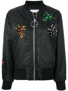 куртка-бомбер с аппликацией  Gaelle Bonheur