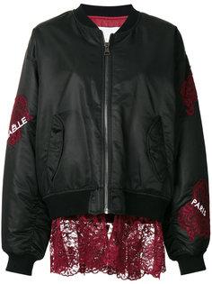 куртка-бомбер с аппликациями  Gaelle Bonheur