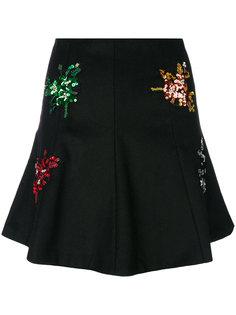 мини-юбка с цветочной отделкой  Gaelle Bonheur