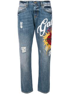 джинсы с логотипом и отделкой  Gaelle Bonheur