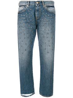 укороченные джинсы с заклепками  Gaelle Bonheur