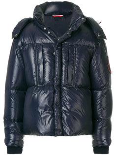 пуховая куртка с влажным отблеском Moncler