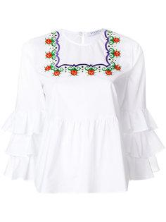блузка с оборками и вышивкой Vivetta