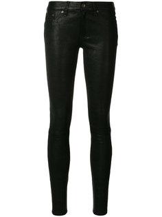 кожаные брюки скинни Rag & Bone