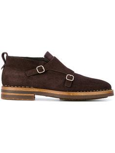 туфли в стиле монков с двумя ремешками Santoni