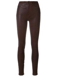кожаные брюки скинни с завышенной талией Rag & Bone