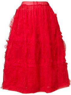 присборенная юбка из тюля Comme Des Garçons Girl