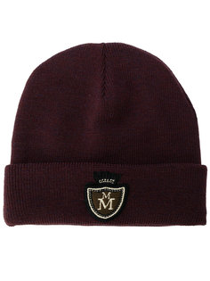 вязаная шапка с логотипом Maison Michel