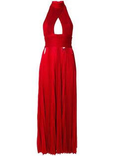 плиссированное платье с вырезом-петлей халтер Givenchy