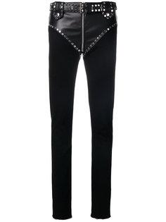 брюки с кожаными вставками в стиле вестерн Alyx