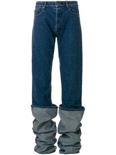 удлиненные джинсы с подворотами Y / Project