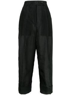 укороченные брюки с отворотами Thom Browne