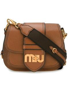 сумка через плечо Miu с логотипом Miu Miu