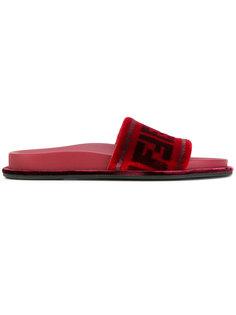сандалии FF с открытым носком Fendi
