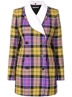 двубортная куртка с принтом тартан  Alessandra Rich