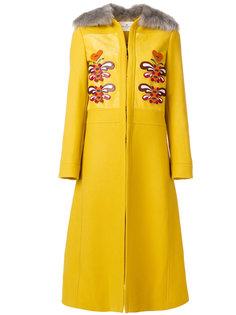 длинное пальто с аппликацией Anya Hindmarch