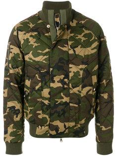 камуфляжная куртка бомбер Balmain