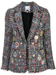твидовый пиджак с нашивками Edward Achour Paris