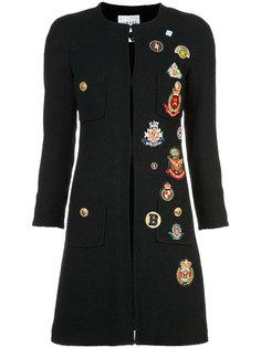 пальто с нашивками Edward Achour Paris
