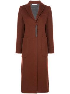 удлиненное однобортное пальто Fabiana Filippi