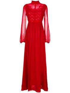 длинное платье  с вышивкой Romantic Giambattista Valli