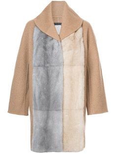 пальто-кейп с меховой отделкой Fabiana Filippi