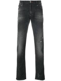 джинсы кроя слим с потертой отделкой Philipp Plein