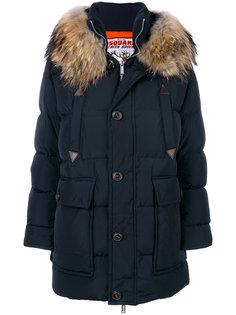 пальто с капюшоном с оторочкой из меха енота Dsquared2