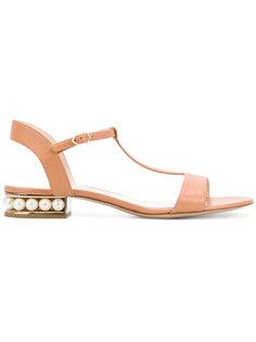 сандалии Casati с Т-образным ремешком и жемчугом Nicholas Kirkwood