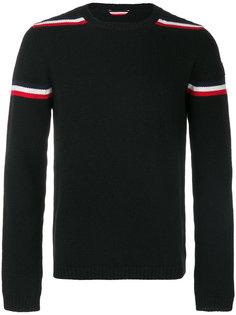 свитер в полоску с логотипом Moncler