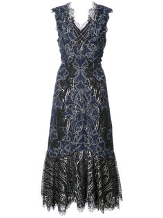 расклешенное кружевное платье  Jonathan Simkhai