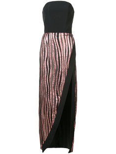 платье без бретелек с глубоким вырезом Christian Siriano