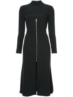 расклешенное платье на молнии Christian Siriano