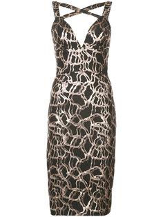 облегающее жаккардовое платье Christian Siriano