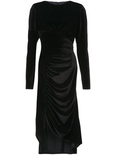 бархатное платье с разрезом сбоку Christian Siriano