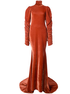 вечернее платье со шлейфом Christian Siriano