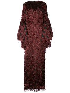 вечернее платье с бахромой Christian Siriano