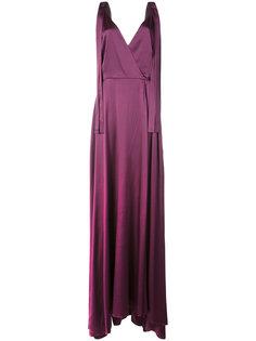 вечернее платье с глубоким вырезом Christian Siriano