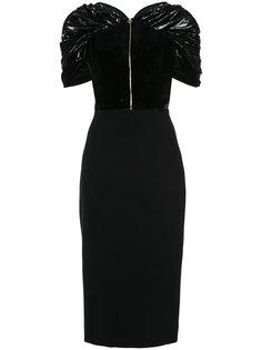 приталенное платье с топом на молнии Christian Siriano