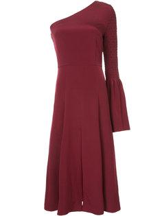 расклешенное платье на одно плечо Christian Siriano