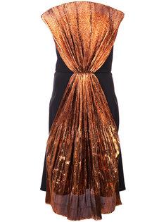 платье без бретелек Christian Siriano
