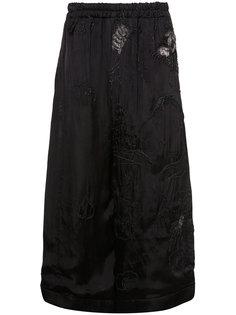 атласные брюки с вышивкой By Walid