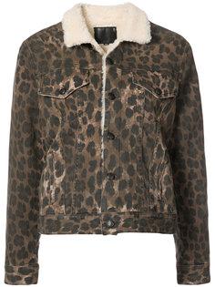 куртка на кнонпках  с леопардовым принтом R13