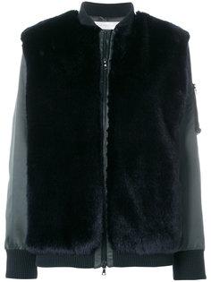 куртка-бомбер с отделкой из искусственного меха Victoria Victoria Beckham