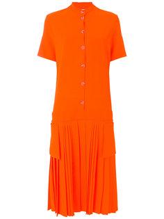 плиссированное платье-рубашка Victoria Victoria Beckham