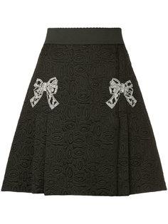 жаккардовая юбка с бантом  Dolce & Gabbana