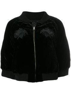 укороченная куртка с вышивкой  Comme Des Garçons Noir Kei Ninomiya